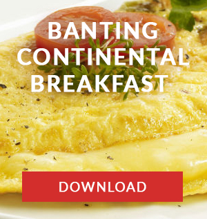 continental breakfast banting menu cape town