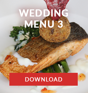 WEDDING MENU 3 catering company cape town