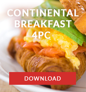 continental breakfast menu catering company cape town