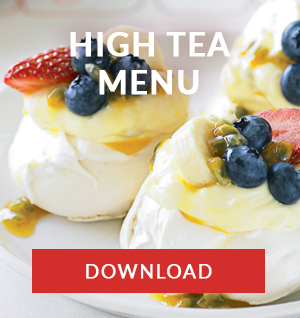 high tea catering menu cape town