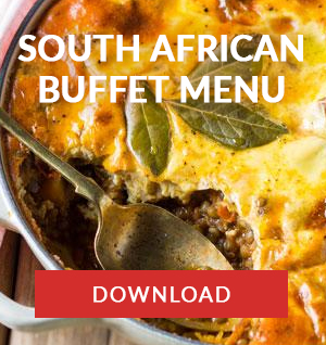 south african buffet menu catering cape town