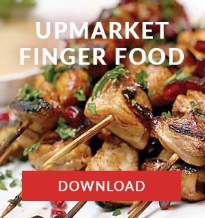 upmarket finger food menu cape town